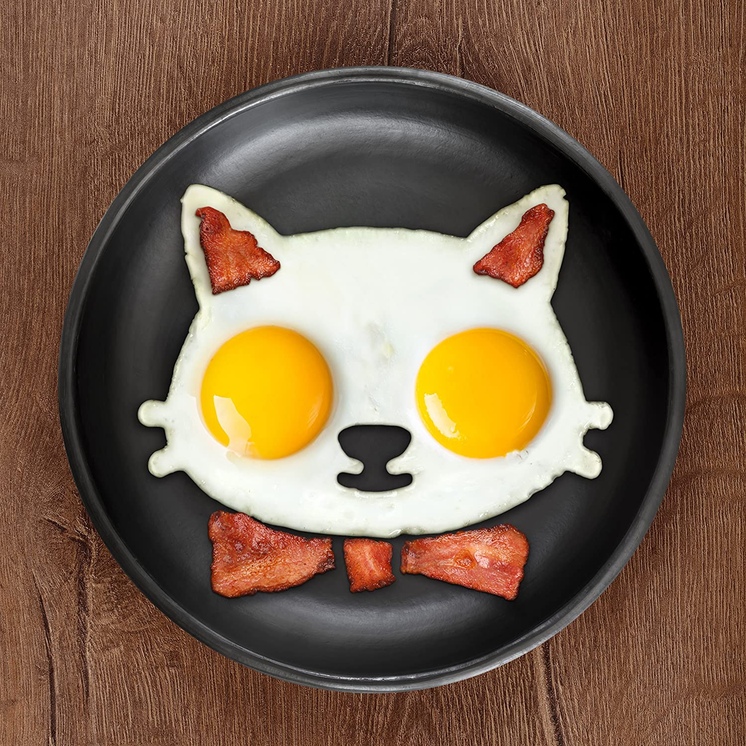 Amazon.com: Fred FUNNY SIDE UP Silicone Egg Mold, Cat: Kitchen ...