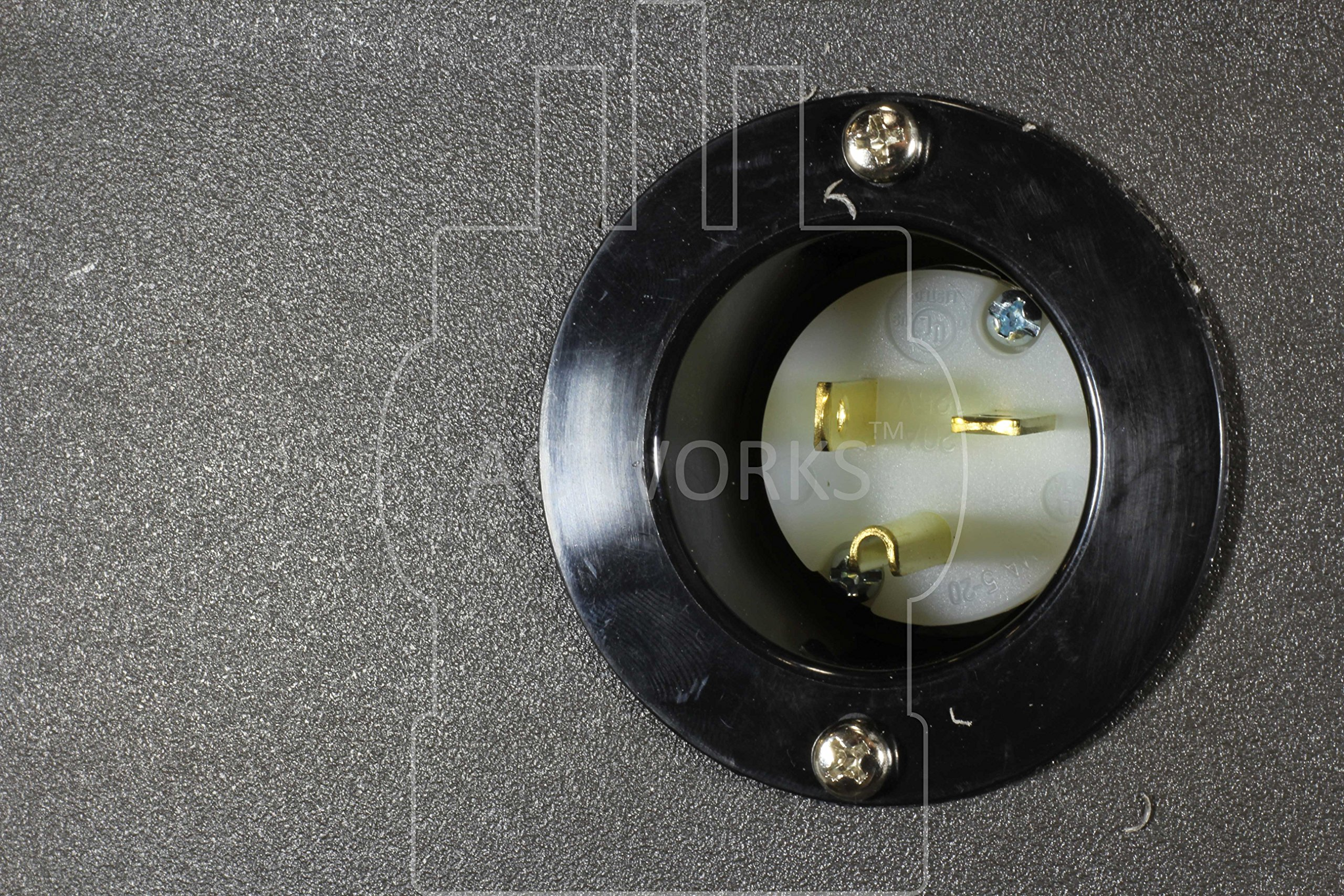 AC WORKS [ASIN520P 20-Amp 125-Volt NEMA 5-20P Flanged Power Input Inlet by AC WORKS (Image #5)