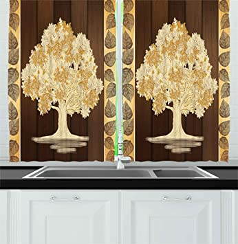 Amazon.com: Ambesonne Kitchen Decor Collection, Asian Style Art ...