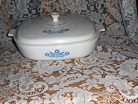 Corning Ware Cornflower Blue 10 Inch Casserole Skillet with Proceram Cover