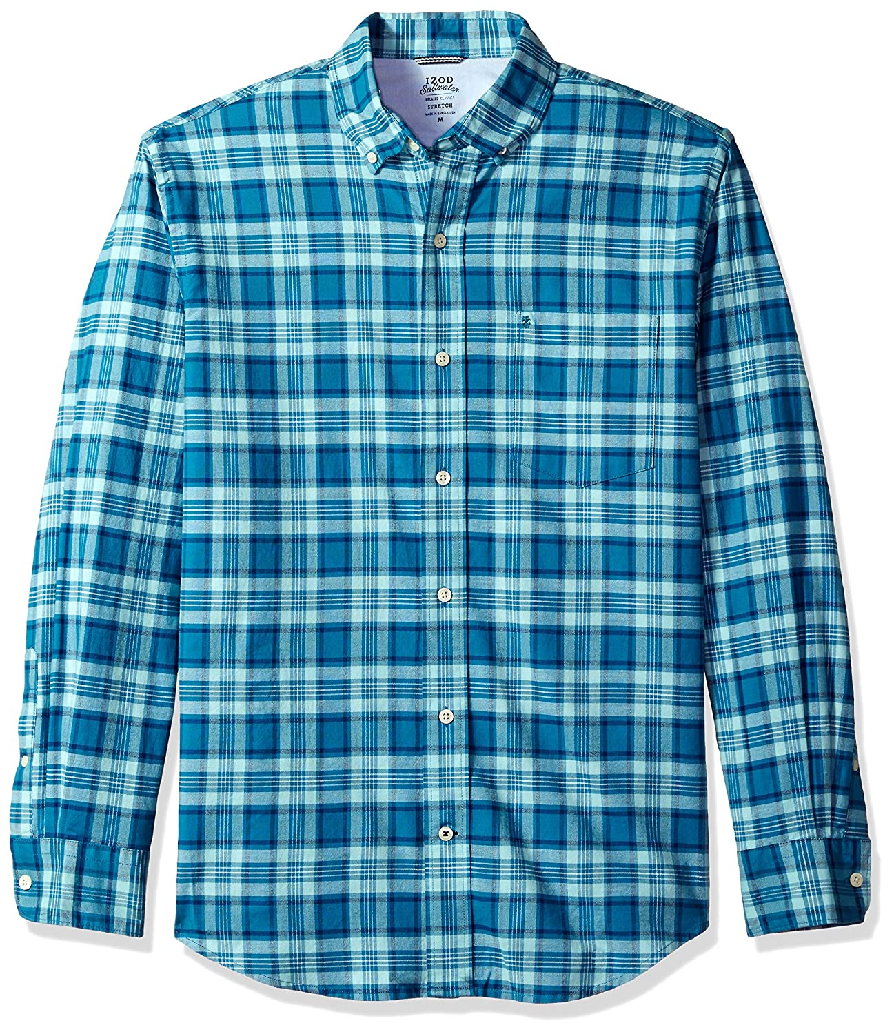 Izod mens Oxford Plaid Long Sleeve Shirt IZOD Men's Sportswear 45SW476