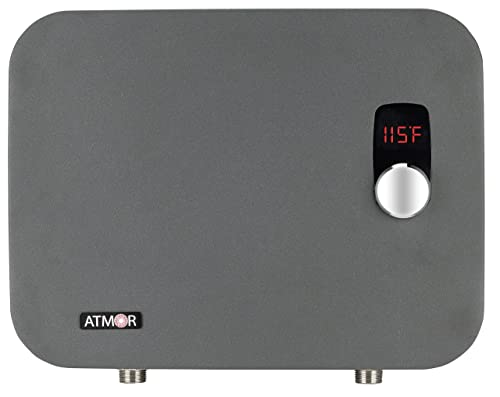Atmor AT-910-27TP 27 kW/240V ThermoPro Series Digital Thermostatic Tankless Electric Water Heater, Gray