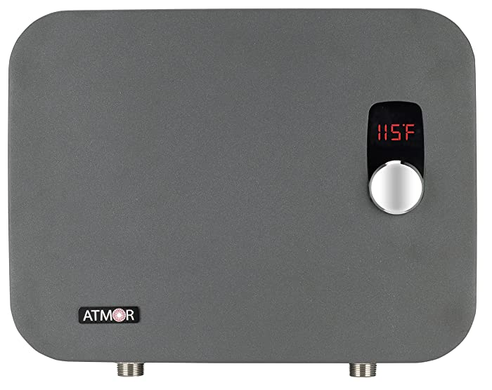 Atmor AT-910-24TP ThermoPro 24 kW/240V 4.6 GPM Digital Tankless Electric Water Heater, Grey