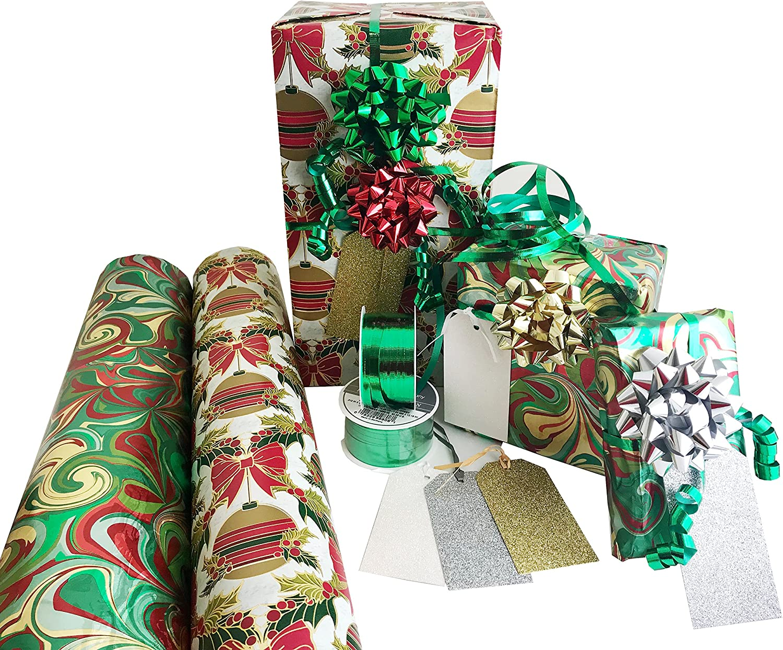Xmas Gift Wrap Traditional Santa Personalised Christmas Wrapping paper