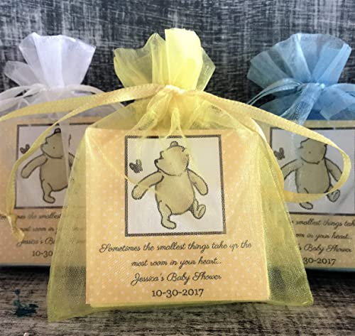 classic Winnie the Pooh soap baby soap baby shower soap thank you gifts 10+ Mini soap favors personalized soap handcrafted soap.