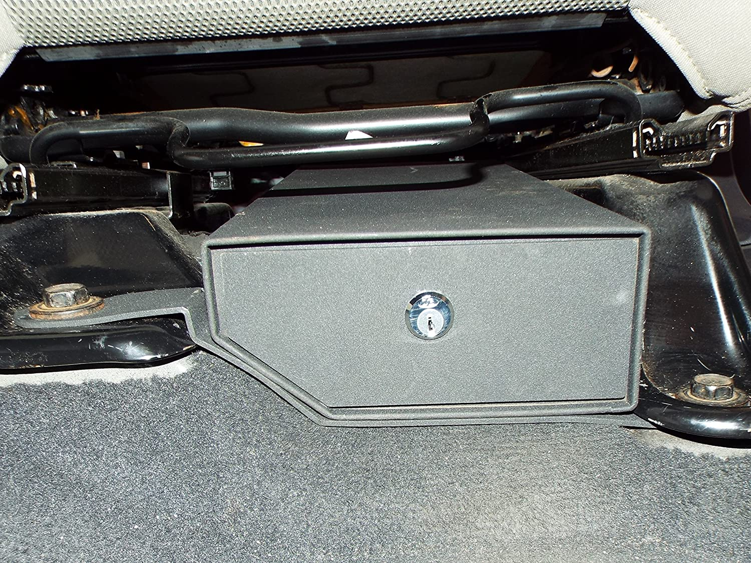 Rocket Offroad RO-JP-LK1 Black Locking Underseat Storage Box for Wrangler Driver Side