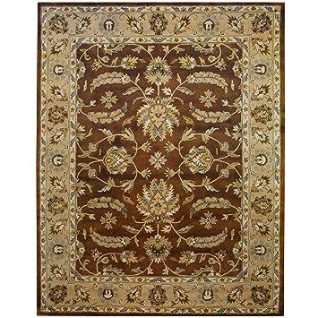 Amazon Com Herat Oriental Indo Hand Tufted Mahal Brown Beige Wool