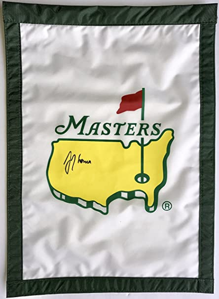 d42155564e1 Image Unavailable. Image not available for. Color  Justin Thomas signed  Masters golf flag Augusta National autographed