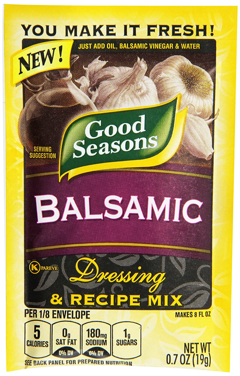 Good Seasons Salad Dressing and Recipe Mix, , Pack of 24 Balsamic 0.7 Ounce (Pack of 24) 16.8 Ounce