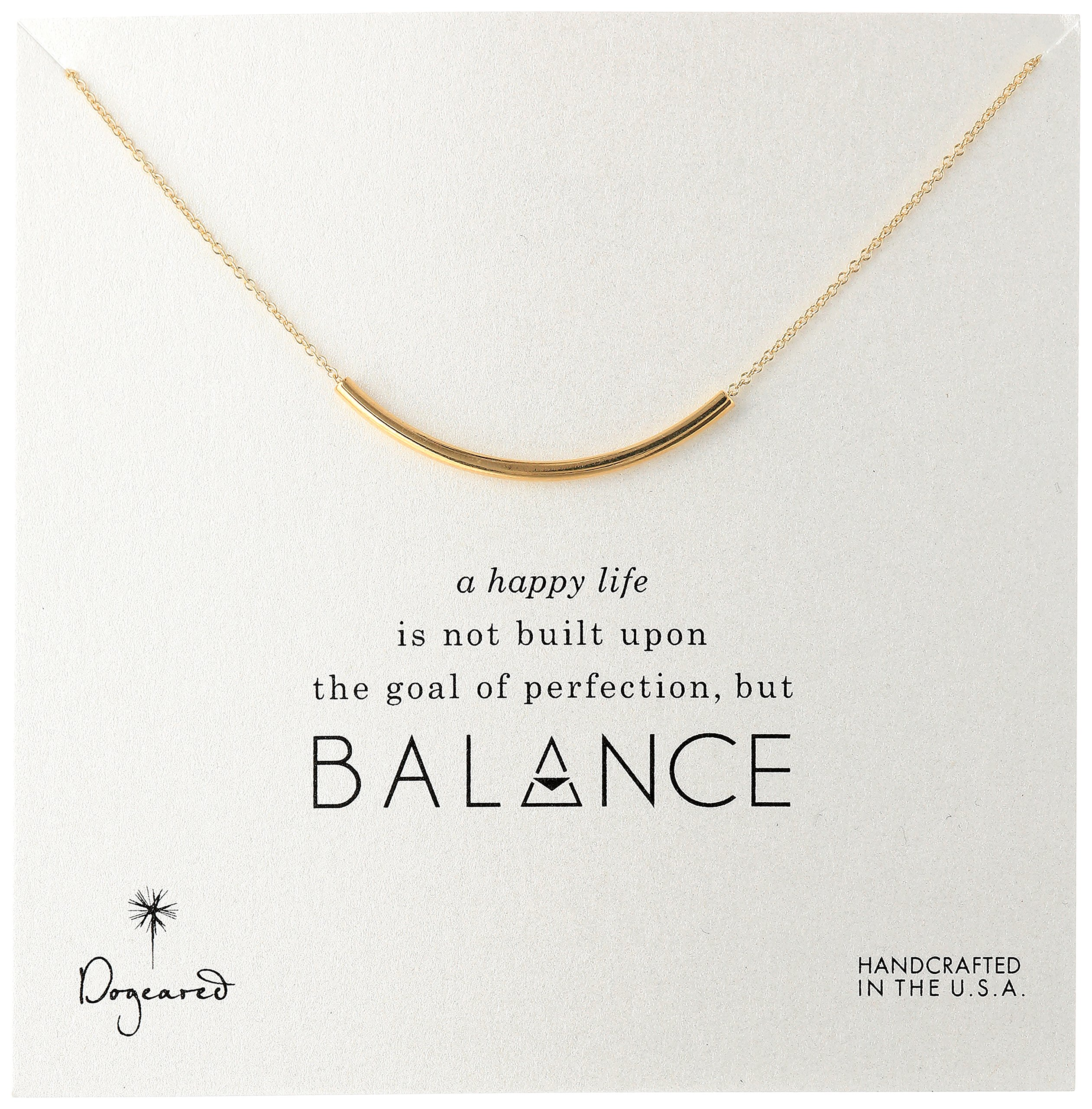 Dogeared Balance Tube Bar Gold Plated Silver Necklace, 16'' with 2'' extender by Dogeared (Image #2)