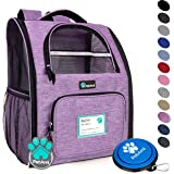 PetAmi Deluxe Pet Carrier Backpack for Small Cats and Dogs, Puppies | Ventilated Design, Two-Sided Entry, Safety…