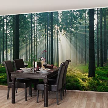 fotomural premium enlightened forest mural apaisado papel pintado fotomurales murales pared