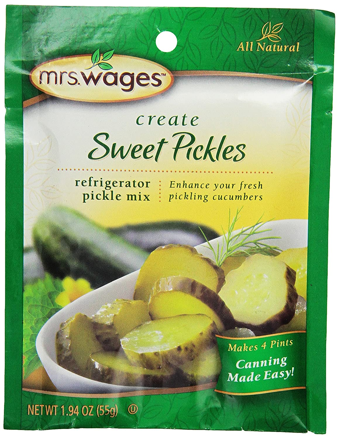 Mrs. Wages Sweet Refrigerator, 1.9-Ounce Pouches (Pack of 12)