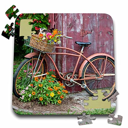Amazon.com: Danita Delimont – Jardín – Old bicicleta con ...