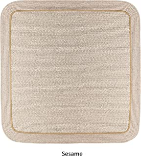 product image for Rhody Rug Seaport Wool Blend Reversible Braided Rug Sesame 4' Square 4' Round Rectangle