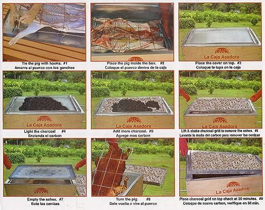 3d1aab5205d Amazon.com   La Caja Asadora Roasting Box (Caja China) Pig Roaster Aluminum  100 LB   Freestanding Grills   Garden   Outdoor