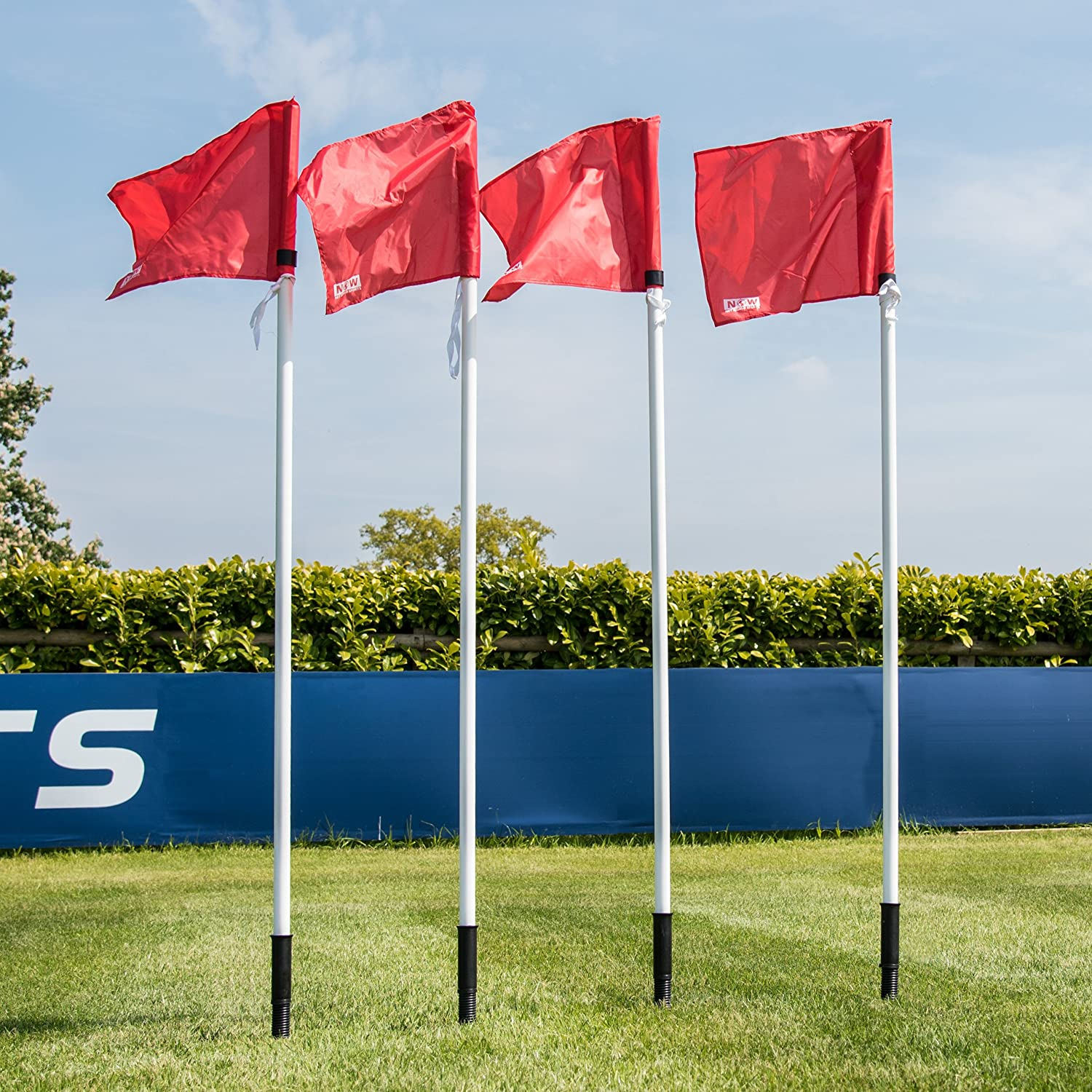 Forza Spring Loaded Soccer Corner Flag Set Of 4 Professional Corner Flags Sports Outdoors