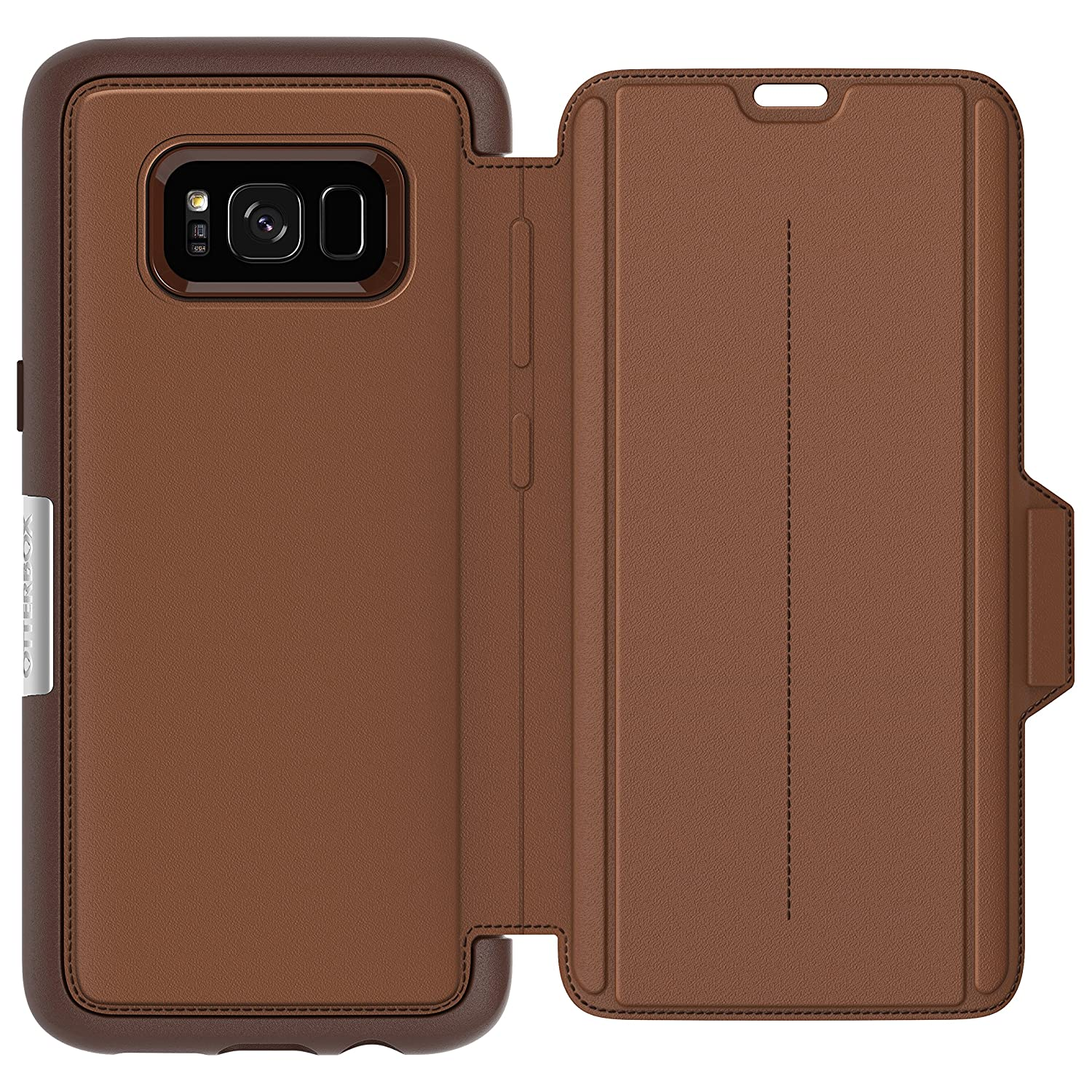 100% authentic bbc1b cd4d3 OtterBox Strada Series for Samsung Galaxy S8 - Burnt Saddle Brown