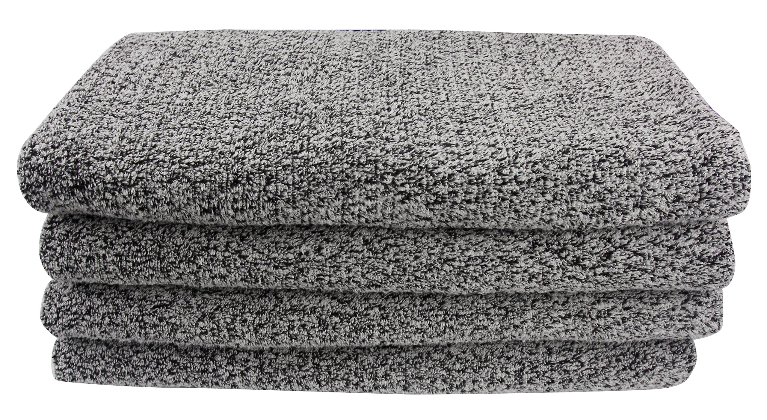 Everplush Diamond Jacquard Bath Sheet 2 Pack in Grey