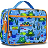 LONECONE Kids' Insulated Fabric Lunchbox - Cute Patterns for Boys and Girls, Frog Pond