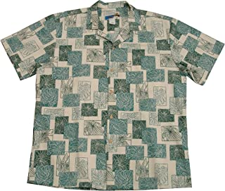 product image for Paradise Found Waimea Casuals Mens Monstera Shirt Beige L