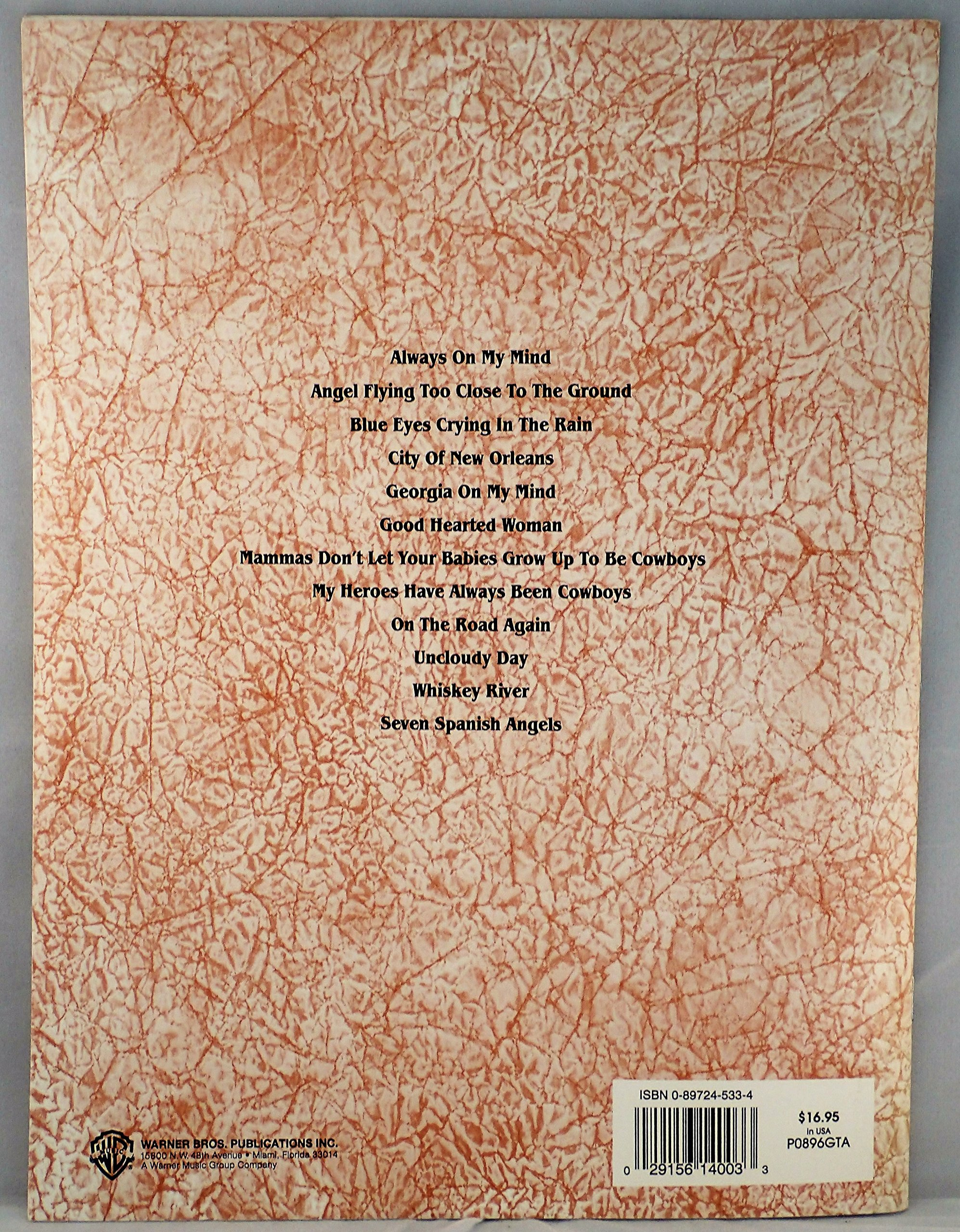 Amazon The Willie Nelson Guitar Songbook Authentic Guitar Tab