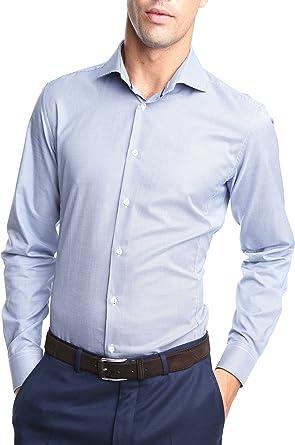 Caramelo, Camisa Vestir Slim Cutaway, Hombre · Azul Marino, Talla 50: Amazon.es: Ropa y accesorios