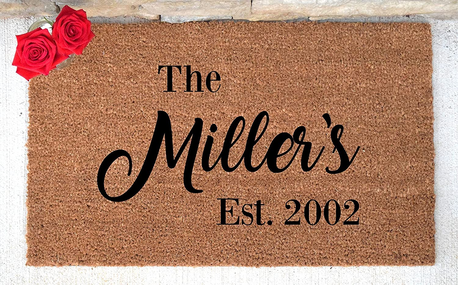 Personalized Doormat - Custom Doormat - Custom Last Name Doormat - Personalized Door mat - Personalized Welcome Mat - Hand Painted Door Mat