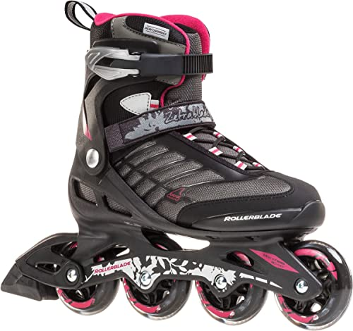 Rollerblade Zetrablade Women s Adult Fitness Inline Skate, Black and Cherry, Performance Inline Skates