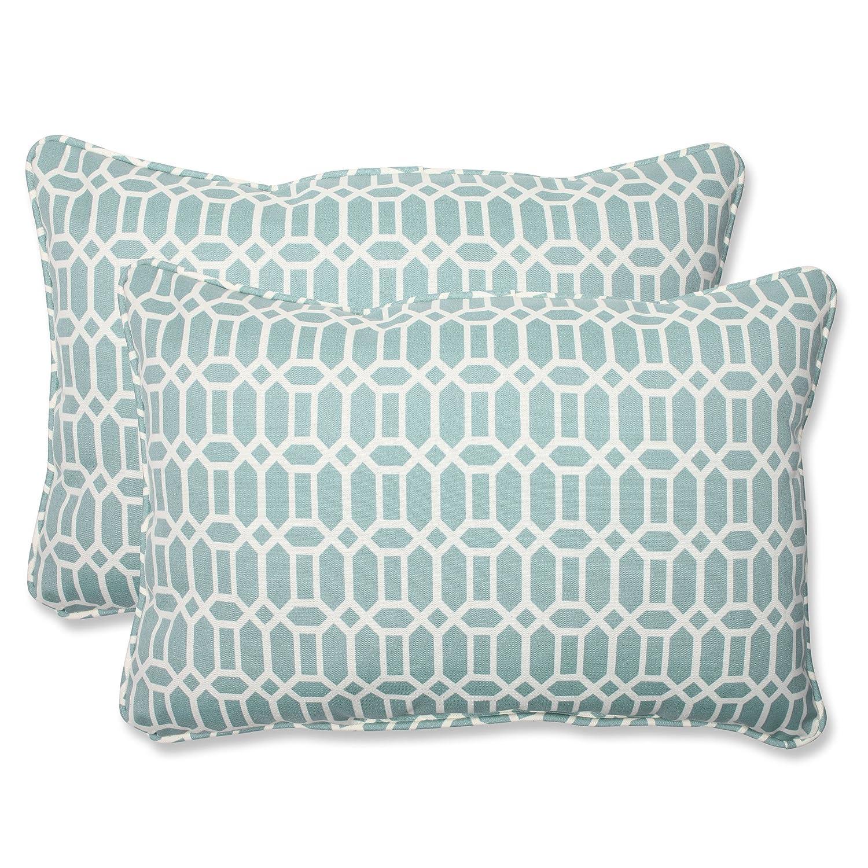 Pillow Perfect Outdoor Rhodes Quartz Over-Sized Rectangular Throw Pillow, Set of 2