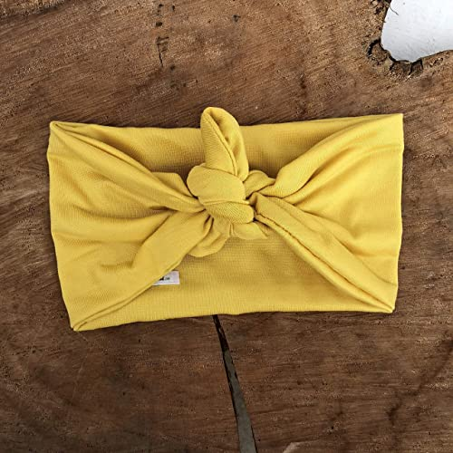 Amazon Com Handmade Yellow Knot Turban Headband By Allbabygirls