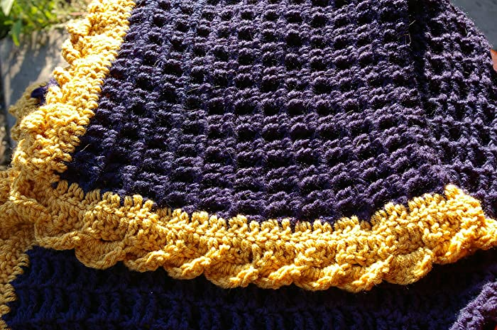 40be41f8019 Image Unavailable. Image not available for. Color  Navy Blue Baby Blanket  in Waffle Stitch ...