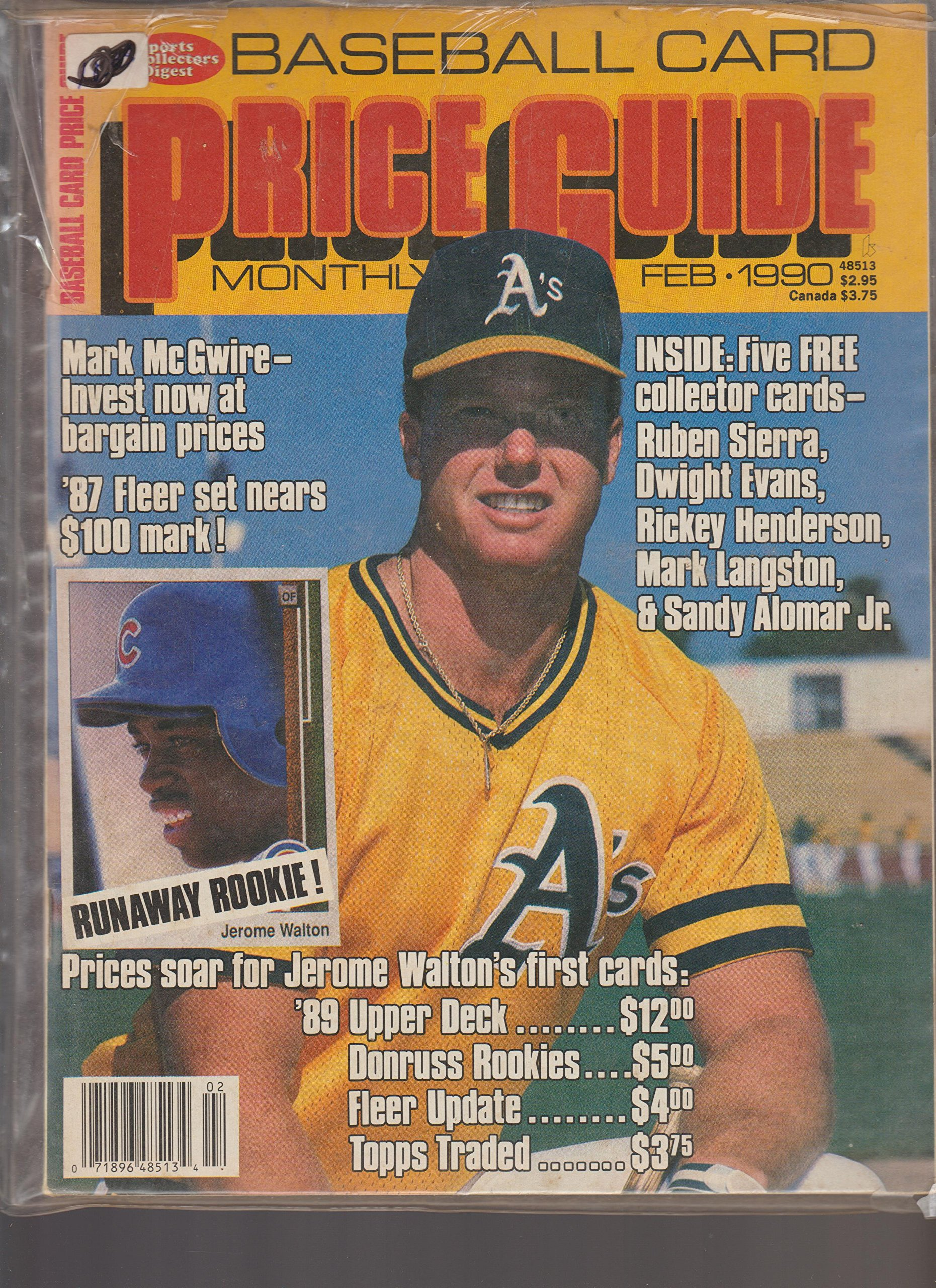 Sports Collectors Digest Baseball Card Price Guide Monthly February