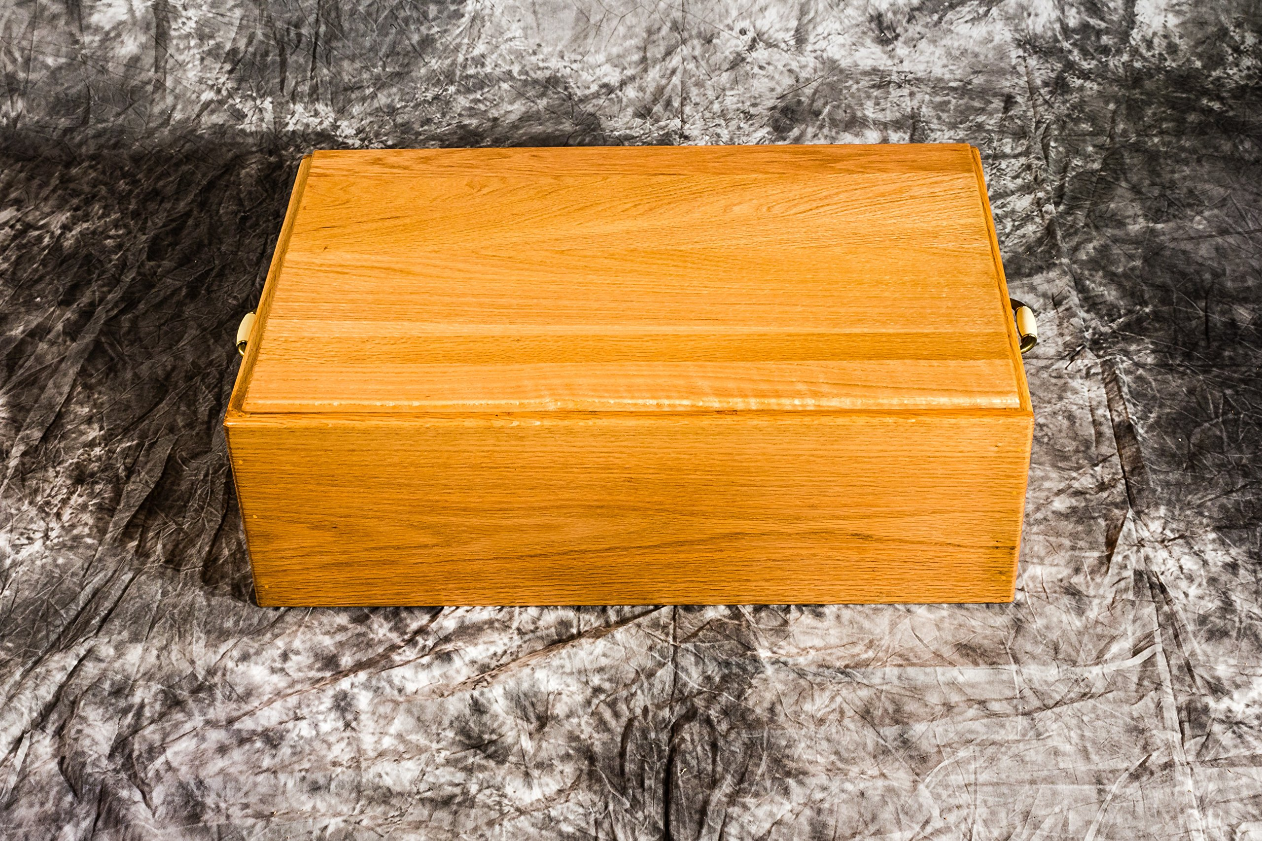 Pet Casket For Dogs- Wooden Burial Coffin for Dogs and Cats - Wood Dog Burial Box Handmade by Amish Craftsman - 24'' Medium Pinnacle Woodcraft by Pinnacle Woodcraft