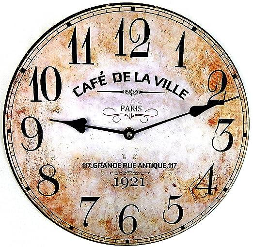 Horloge Pendule Murale Style Vintage 30 Cm