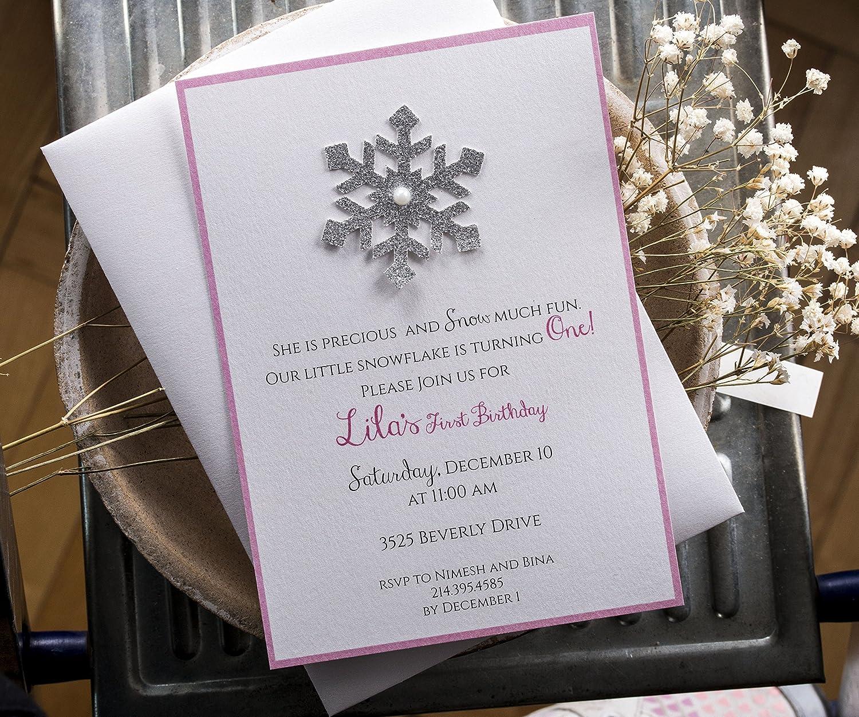 Amazon.com: Winter Onederland Invitations, Winter Wonderland ...