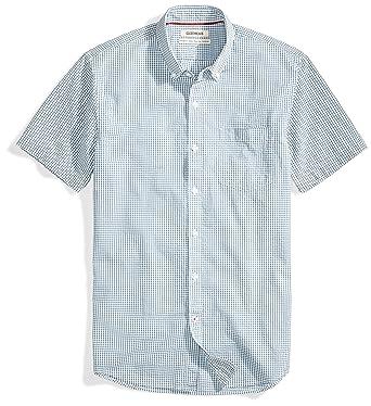 5c5123f6f31a9 Amazon.com  Goodthreads Men s Standard-Fit Short-Sleeve Seersucker ...