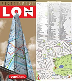streetsmart london map by vandam city street map of london england laminated folding