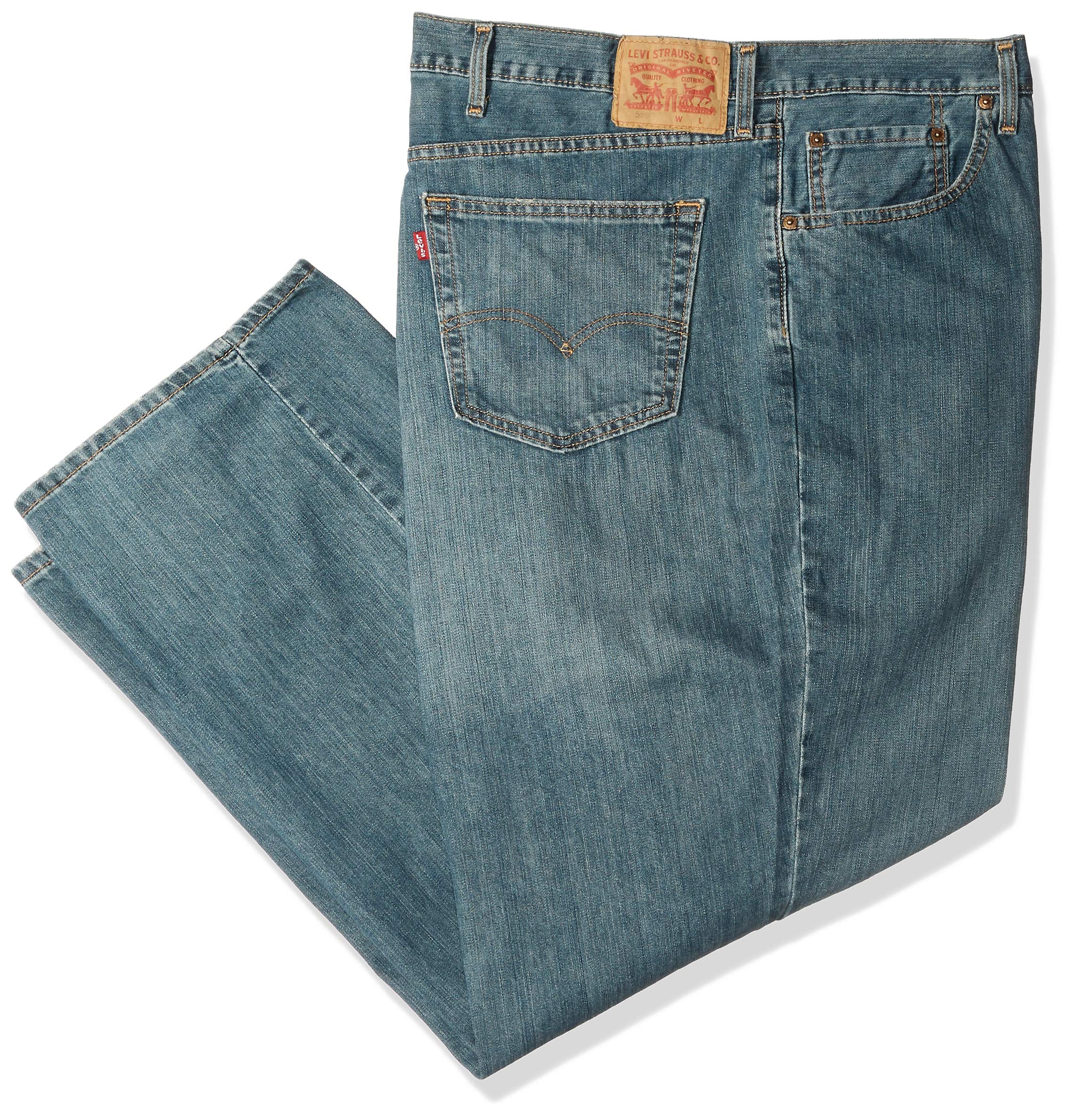 Levi's Men's Big and Tall Big & Tall 559 Relaxed Straight Jeans, Sub Zero, 40W X 36L