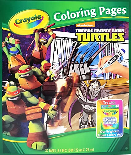 Amazon.com: Crayola teenage mutant ninja turtles 32 páginas ...