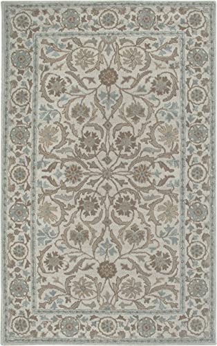 Rizzy Home Ashlyn Collection Wool Area Rug, 9 x 12 , Ivory blue