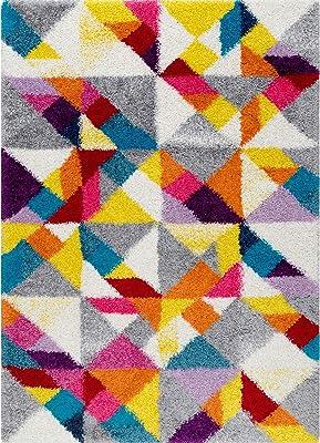 """nuLOOM OZXL07A Mosaic Hailey Shag Area Rug, 6' 7"""" x 9', Multi"""