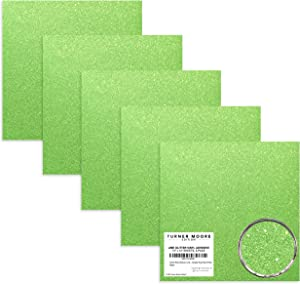 Turner Moore Edition, Lime Green Glitter Vinyl Adhesive, 12