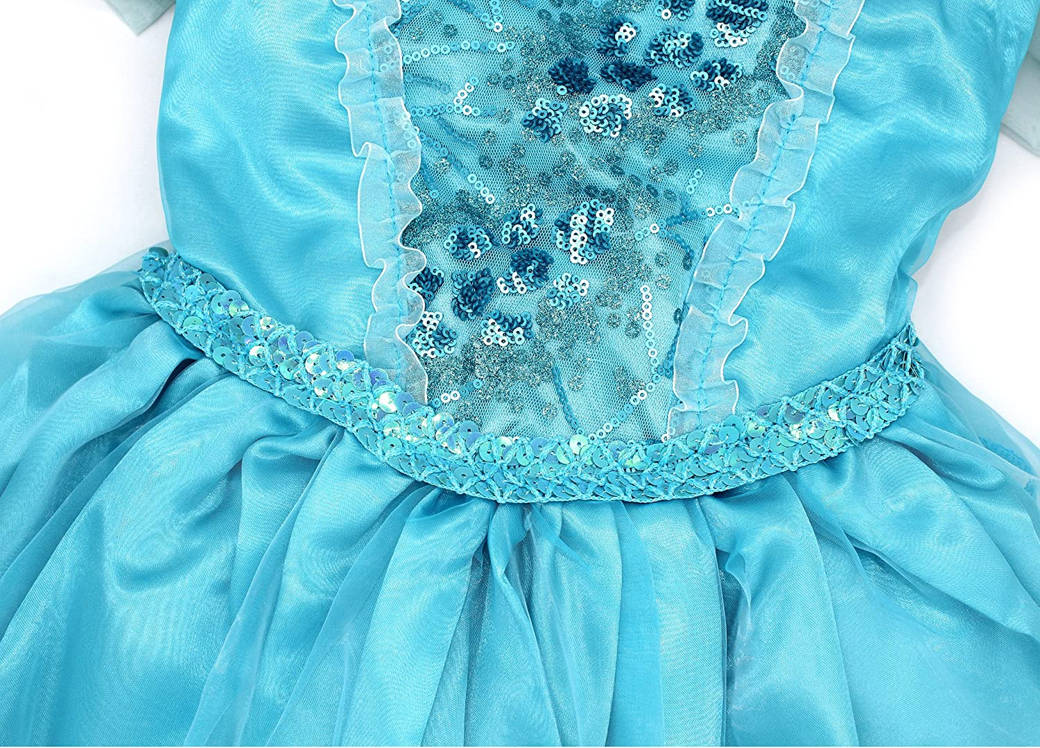 AmzBarley Dress for Girls Kids Snow Queen Princess Dressing up Costume Child Halloween Cosplay Birthday Theme Party Fancy Dress Outfit with Cape