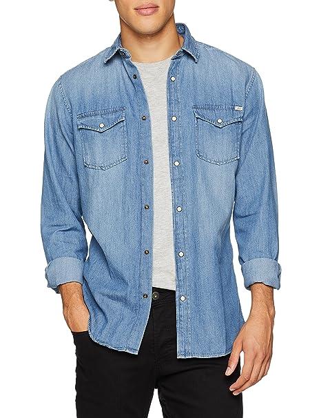 ba3c6cc9de JACK & JONES Jjesheridan Shirt L/S Camicia in Jeans Uomo: MainApps:  Amazon.it: Abbigliamento
