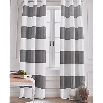 Amazon Com Tommy Hilfiger Wide Stripes Curtains 2 Panels