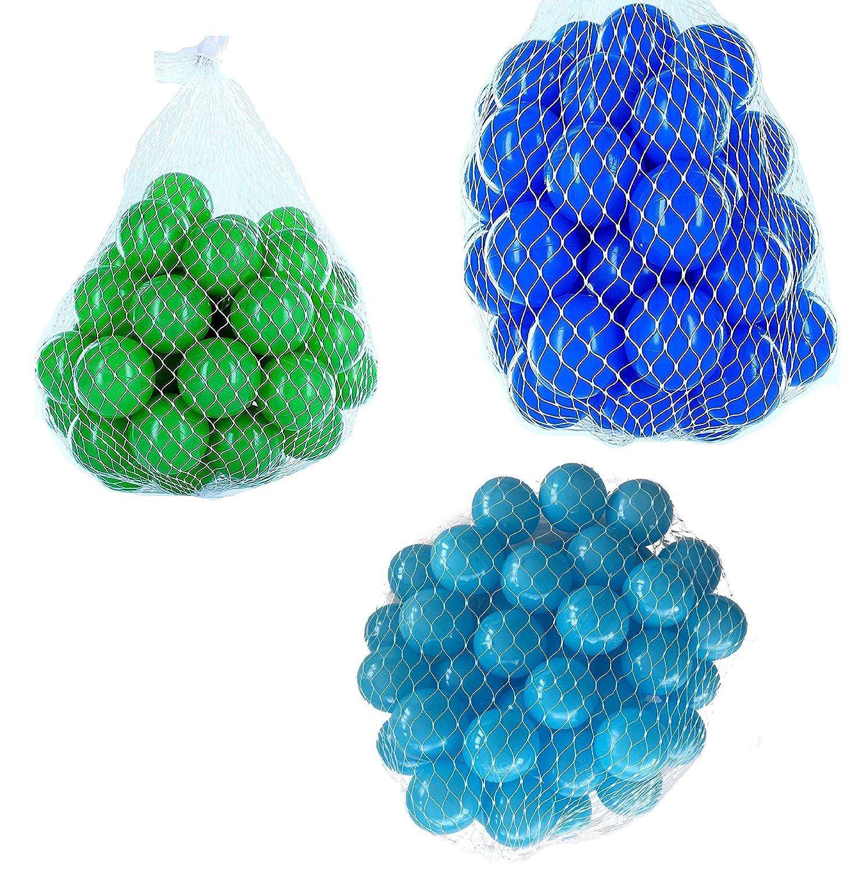 900 Bälle für Bällebad gemischt mix mit türkis, blau und grün