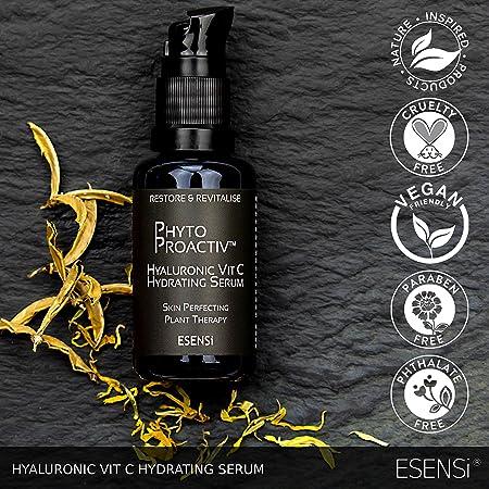 Serum con Ácido Hialurónico y Vitamina C de ESENSi | Hidratante Antienvejecimiento de la Piel Seca: Amazon.es: Belleza