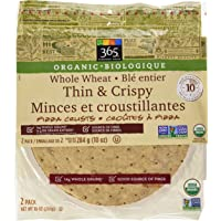 365 Everyday Value Organic Whole Wheat Thin & Crispy Pizza Crusts, 2 Count