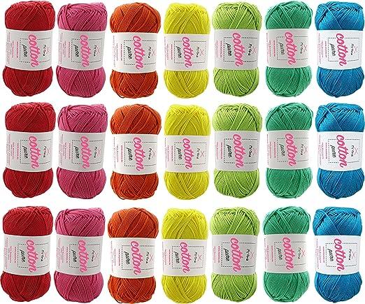 Color intenso de algodón hilo Catania Grande! Gran verano lana 100% algodón lino Fb 3248 (gris claro) gran brillante, verano hilo de algodón de calidad con colores brillantes de Schachenmayr: Amazon.es: Hogar